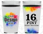 Full Color Pint Glass Insulator